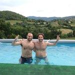 La piscina con la vista sulle colline!