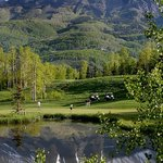 On the green at the Telluride Golf Club