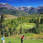 Teeing off in the Mountains at the Telluride Golf Club