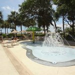 Kiddie water play area with fountain