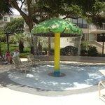 Kiddie water play area