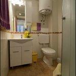 bathroom of studio apartment