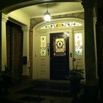 Front door's stained glass