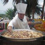 Cozinhar na praia