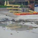 nasty drainage on beach