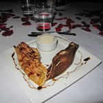 Dessert crêpes garnies pommes caramélisées