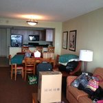View of room 1903A from balcony door (excuse our unpacked mess)