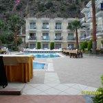 villa deniz at pool area