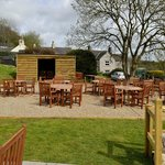boules court and tables