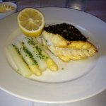 Grilled Turbot with white asparagus