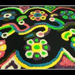 Rangoli Design By Dharma for Taste of Klamath 2013