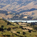 View of Akaroa from Hilltop Tavern