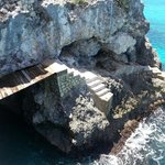 Cave House Bridge, Cave, and Cliff Stairs
