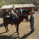 Saddling up before a day-ride