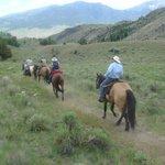 Beautiful scenery seen by horseback