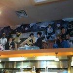 Mural above kitchen