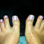 Wedding Toes!!! So happpy thanks to the girls at Z-Touch!!!
