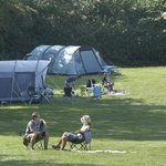 Campers enjoying the sunshine in the dapple