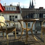 Balkon mit Domblick