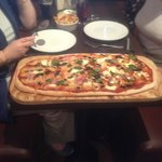 The giant meter long pizza