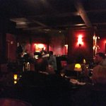 Kozy bar with live music on weekends