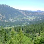 View of Leavenworth from the View Ridge Trail, above the lodge