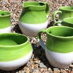 Tea Set in Lime Green on a sunny Achill day!