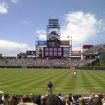 Coors Field - part of Destination Summit conference - shuttle gave me ride to and from!