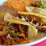 Chicken or Steak Fajita Tacos!