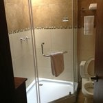 Bathroom of single hostel room