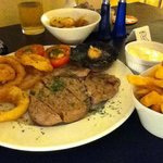 Rib Eye Steak Surf & Turf cooked to perfection and tasting delicious!
