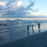 Cua Dai beach at sunset May 2013