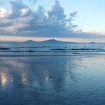 Cua Dai beach at sunset