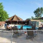 The pool & spa area