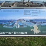 Sign about the waste treatment plant