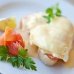 Salmon eggs benedict, a great way to start the day!