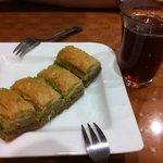 Dessert- Baklava and Tea