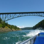 going under deception pass bridge