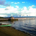 The jetty entrance to the Bunaken Island