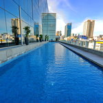 Olympic length (50 meter) outdoor swimming pool