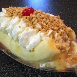 Banana split at Purity.