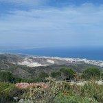 Benalmadena coast from mountain top