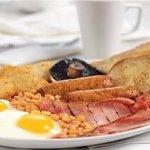 large breakfast, good ingredients award winning sausages