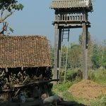 watch towers tharu people use to chase animals away from their crop fields