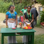 suntali (our kitchen assistant) with her friend