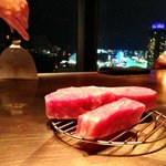 Kobe beef at the hotel steakhouse - Wonderful view and excellent food