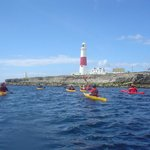 Kayaking at Portland bill with Weymouth OEC