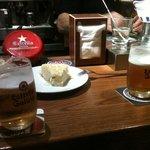 cerveza y tortilla
