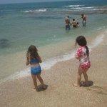 Two girls admiring the sea at Palmachim beach