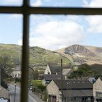 View from a bedroom at the Innkeeper's Lodge Castleton, Peak District